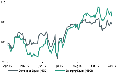 Developed and emerging equity markets